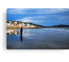 Pause For Reflection ~ Lyme Regis Canvas Print