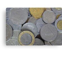International Coins Canvas Print