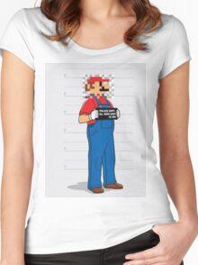 Super Wario Women's Fitted Scoop T-Shirt