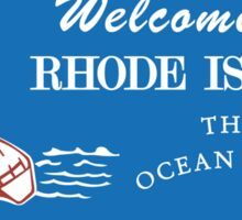 Welcome to Rhode Island, Road Sign, USA  Sticker