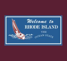 Welcome to Rhode Island, Road Sign, USA  by worldofsigns