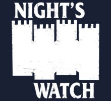 Castle Black ( Night's Watch / Game of Thrones shirt) White Logo Kids Clothes