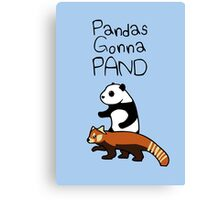 Pandas and Red Pandas Gonna Pand Canvas Print
