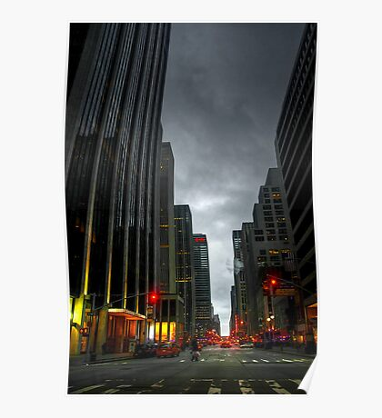 Evening Time in NYC Poster