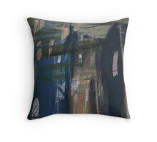 Urban Blue Throw Pillow