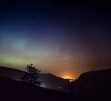 Aurora over Glengesh, Donegal by Marie Carr
