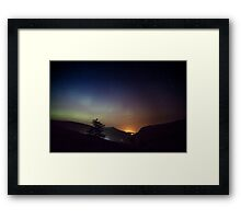 Aurora over Glengesh, Donegal Framed Print