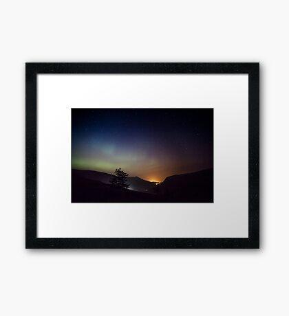 Aurora over Glengesh, Donegal Framed Print