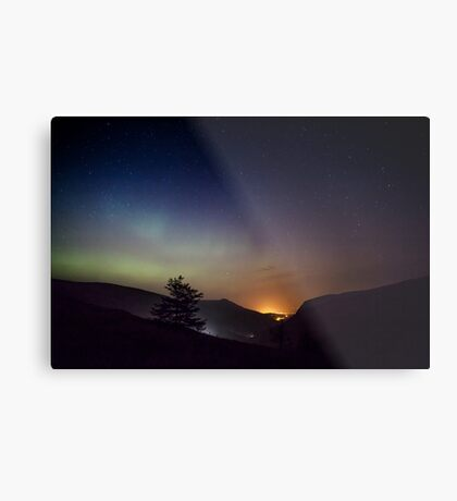 Aurora over Glengesh, Donegal Metal Print