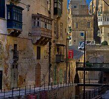 Retro Victoria Gate Portal; Valletta, Malta by Edwin  Catania