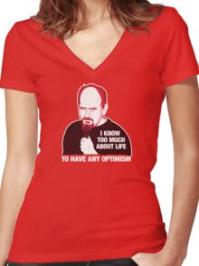 Louis C.K. Women's Fitted V-Neck T-Shirt