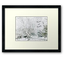 "Snow Fantasy ""Peace On Earth"" ~ Greeting Card Plus More! Framed Print"
