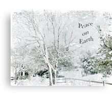 "Snow Fantasy ""Peace On Earth"" ~ Greeting Card Plus More! Canvas Print"
