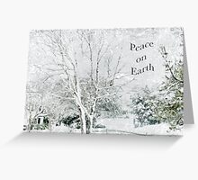 "Snow Fantasy ""Peace On Earth"" ~ Greeting Card Plus More! Greeting Card"