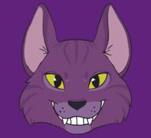 Violet Cat Grins by Growly