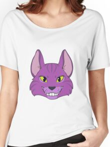 Violet Cat Grins Women's Relaxed Fit T-Shirt