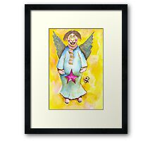 A Cross Eyed Angel for You Framed Print