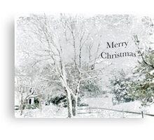 "Snow Fantasy ""Merry Christmas"" ~ Greeting Card Plus More! Canvas Print"