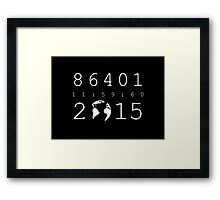 86401 Leap Second 2015 (white version) Framed Print