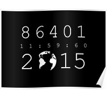 86401 Leap Second 2015 (white version) Poster
