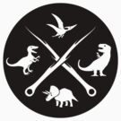 Hipster Dinosaurs Logo (white version) by jezkemp