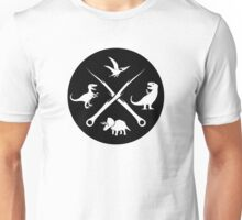 Hipster Dinosaurs Logo (white version) Unisex T-Shirt