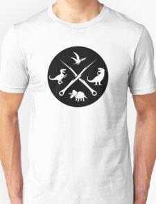 Hipster Dinosaurs Logo (white version) T-Shirt