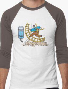 the circle of runing Men's Baseball ¾ T-Shirt