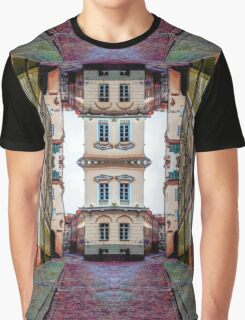 Cozy Old Town Art Graphic T-Shirt