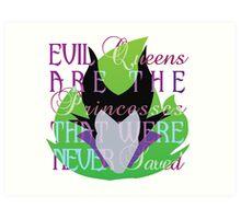 Villian inspired by Maleficent Art Print