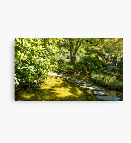Stepping Stones, Butchart Garden Canvas Print