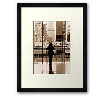 Watching Framed Print