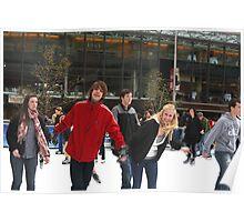 Winter Fun - Skating Fountain Square Cincinnati Poster