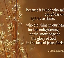 Light's Shining ~ 2 Corinthians 4:6 by Robin Clifton