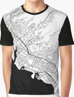 Honolulu Black and White Map Graphic T-Shirt