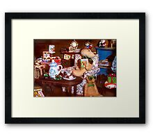 Christmas with Uncle Framed Print