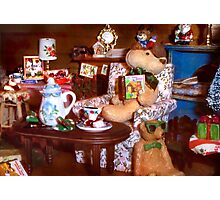 Christmas with Uncle Photographic Print
