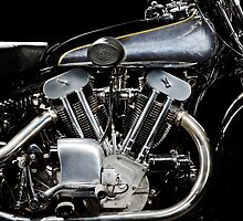 Brough Superior SS 100 Engine by Frank Kletschkus