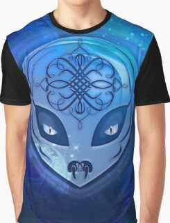 Blue Alien Dream Graphic T-Shirt
