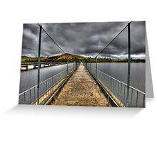 Storm Bridge Greeting Card