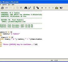 241211a - BBC BASIC 12 x Tables program by paulramnora