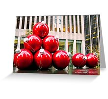 Christmas Balls in New York Greeting Card