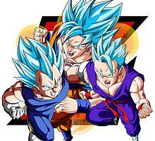 Dragon Ball Z - 3 SSJ Gods! by J. Danion