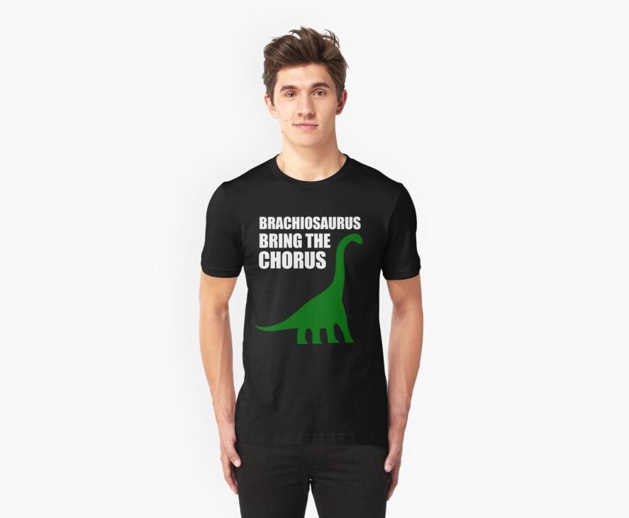 Brachiosaurus, Bring The Chorus (white design) by jezkemp