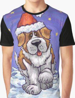 St. Bernard Christmas Graphic T-Shirt