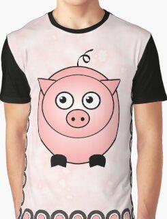 Little Cute Piggy Graphic T-Shirt
