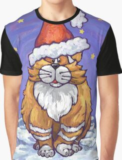 Ginger Cat Christmas Graphic T-Shirt