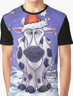 Cow Christmas Graphic T-Shirt
