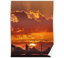 Sunset over Haj Terminal Poster