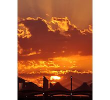 Sunset over Haj Terminal Photographic Print